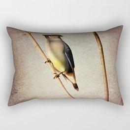 Rustic Cedar Waxwing A397 Rectangular Pillow