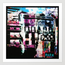 City Choas Art Print