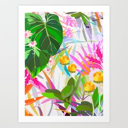 imaginary garden Art Print