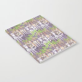 Oriental floral vine pattern Notebook