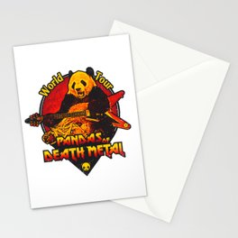 Pandas of Death Metal Stationery Cards