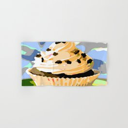 Chocolate Cupcakes with Vanilla Frosting Hand & Bath Towel