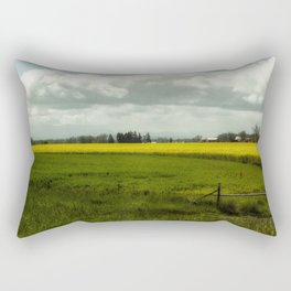 The Curve of a Mustard Crop Rectangular Pillow
