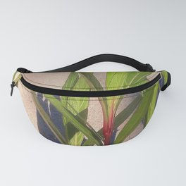 Long Green Leaves and Shadows Fanny Pack