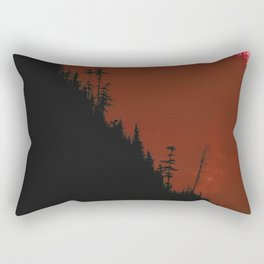 Into The Woods - Dark Forest - Red Rectangular Pillow