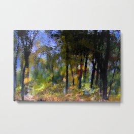 Across the pointillist bridge Metal Print