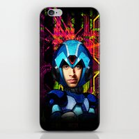 megaman iPhone & iPod Skins featuring Megaman wolowitz by seb mcnulty
