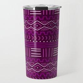 Mudcloth in Pinks Travel Mug