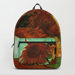 Van Gogh, sunflowers – Van Gogh,Vincent Van Gogh,impressionist,post-impressionism,brushwork,painting Backpack