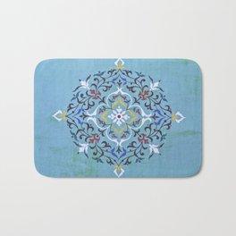 Calligraphy Flower Bath Mat