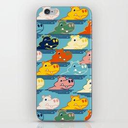 Happy Hippo Family iPhone Skin