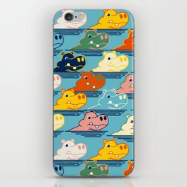 Happy Hippo Family iPhone Skin