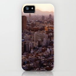The View of Mt Fuji from the Top of Tokyo Tower iPhone Case