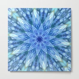 Sweetly Romantic Blue Kaleidoscope Metal Print