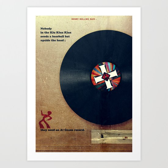 Punk Quotes Poster Serie / Henry Rollins Said : KKK Art Print
