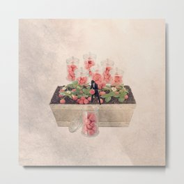 The strawberry-candy picker Metal Print
