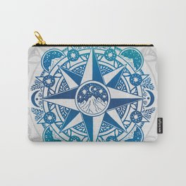 Journey to Moon Mountain | Turquoise Navy Ombré Carry-All Pouch