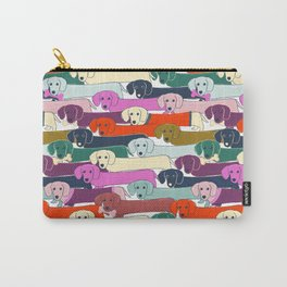 colored doggie pattern Carry-All Pouch