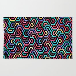 Seamless Colorful Geometric Pattern XXV Rug