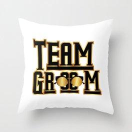 Team Groom Wedding Party Throw Pillow