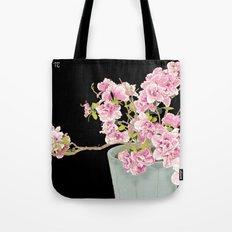 Heavenly Blossom on Black Tote Bag
