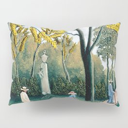The Luxembourg Gardens and Monument to Chopin, Paris Landscape by Henri Rousseau Pillow Sham