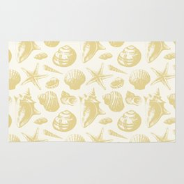 Seashells Pattern 6 - Gold Rug