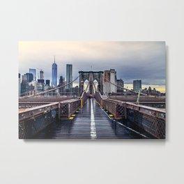Brooklyn lines Metal Print