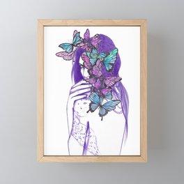 Amongst Butterflies Framed Mini Art Print