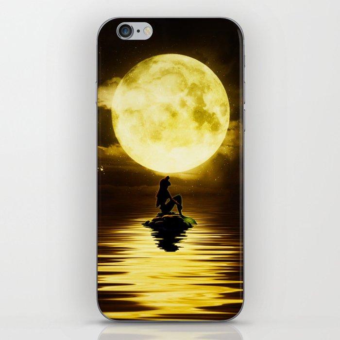 Beauty Mermaid Starry Night iPhone Skin