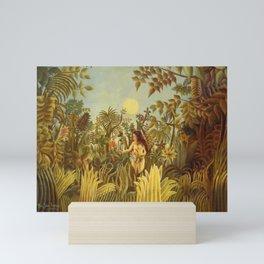 """Henri Rousseau """" Eve in the Garden of Eden"""", 1906-1910 Mini Art Print"""