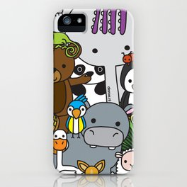 Zoe animals iPhone Case