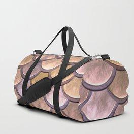 copper mermaid scale Duffle Bag