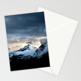 Mountain In Glacier National Park Stationery Cards