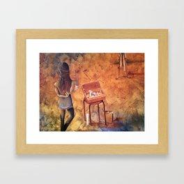 VISUALIZATION In my Studio Framed Art Print