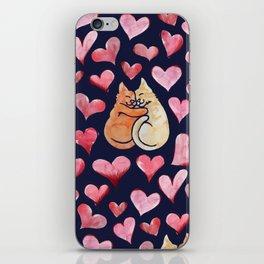 Crazy Cat Love iPhone Skin