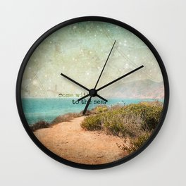 Come With Me to the Sea Wall Clock