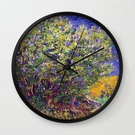 """Vincent van Gogh """"Lilac Bush"""" Wall Clock"""