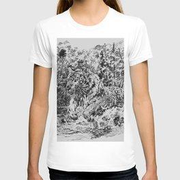 Jumping tiger T-shirt