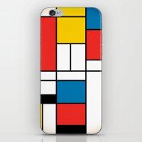 mondrian iPhone & iPod Skins featuring Mondrian  by Studio 401