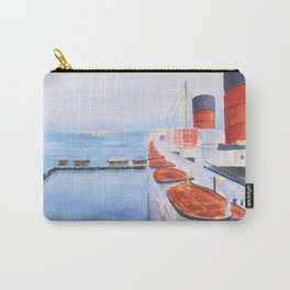 Queen Mary from the Bridge Carry-All Pouch