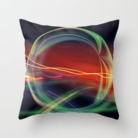 stargate Throw Pillows featuring The Gate Abstract by minx267