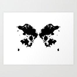 Butterfly Denmark Art Print