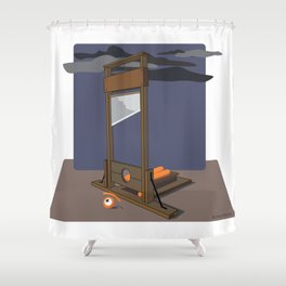 guillotined glance Shower Curtain
