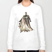 steam punk Long Sleeve T-shirts featuring Batbot- Steam Punk  by Chien-Yu Peng