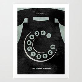 Dial M For Murder - Minimal Art Print