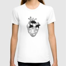 The strongest hearts have the most scars White Womens Fitted Tee SMALL