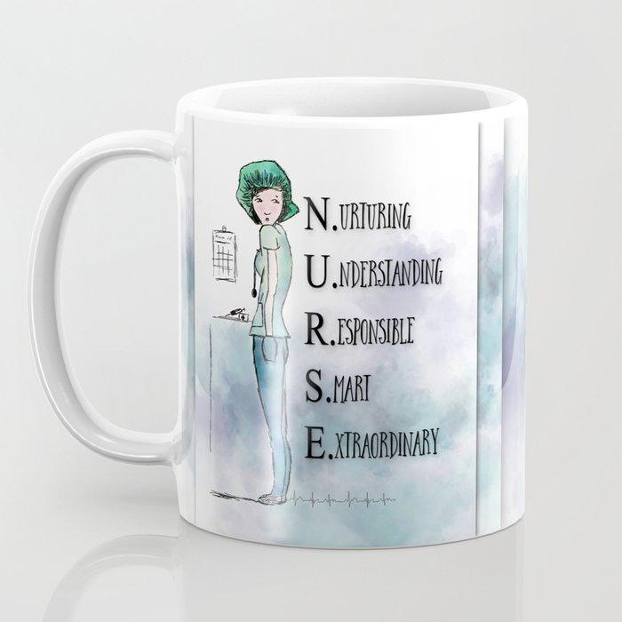 Nurse with Stethoscope Coffee Mug
