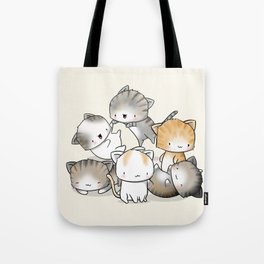 Cute Kitty Doodle Tote Bag
