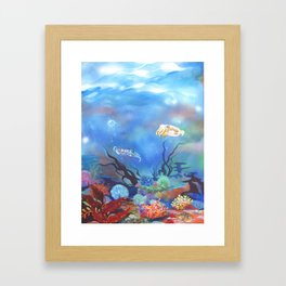 Cuttlefish in Coral Framed Art Print